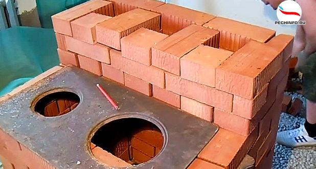 Печь с чугунной варочной плитой