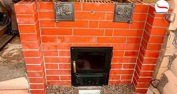 кирпичная печь для гаража схема