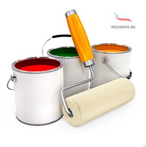Термостойкая краска для печи
