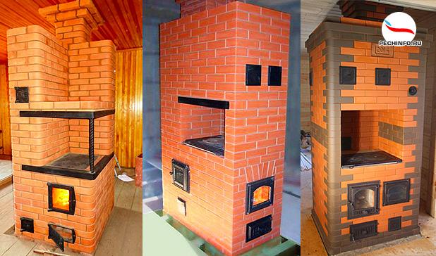 Модели отопительно-варочных печей для дома