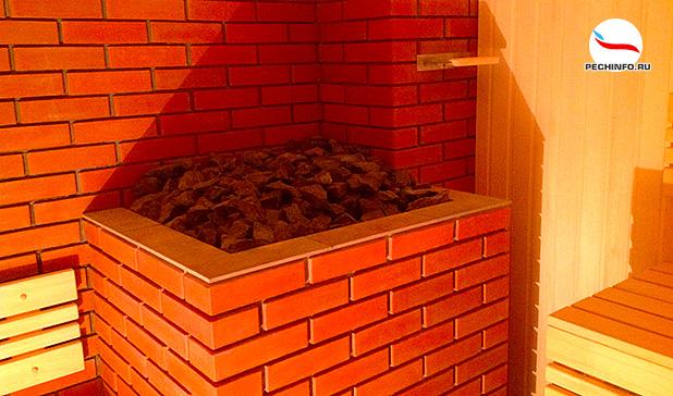 Кирпичная печь-каменка в баню
