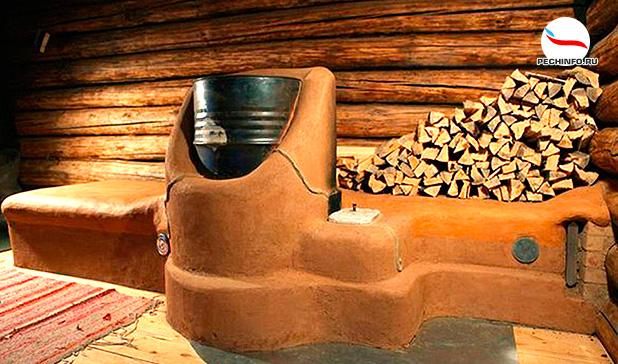 Ракетная печь с куполом из железной бочки