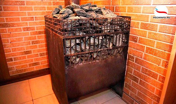 Открытая печь каменка