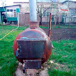 Печьв баню из газового баллона