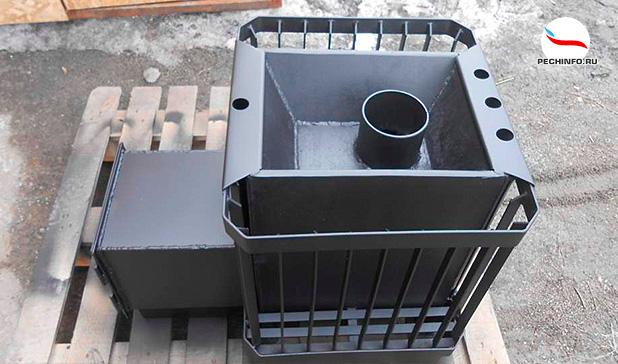 Железная печь каменка для бани