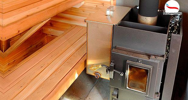 Самодельная железная печь в бане